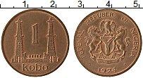 Изображение Монеты Нигерия 1 кобо 1974 Медь XF