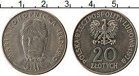 Изображение Монеты Польша 20 злотых 1978 Медно-никель UNC- Мария Конопнинская