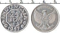 Изображение Монеты Индонезия 25 сен 1957 Алюминий UNC-