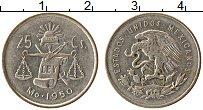 Изображение Монеты Мексика 25 сентаво 1950 Серебро XF+
