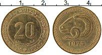 Изображение Монеты Алжир 20 сантим 1975 Латунь UNC-