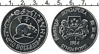 Изображение Монеты Сингапур 10 долларов 1984 Медно-никель UNC Год Крысы