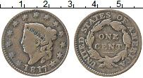 Изображение Монеты США 1 цент 1817 Медь XF