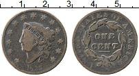 Изображение Монеты США 1 цент 1833 Медь XF