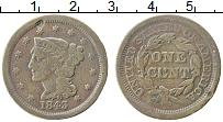 Изображение Монеты США 1 цент 1843 Медь XF
