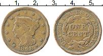 Изображение Монеты США 1 цент 1848 Медь XF