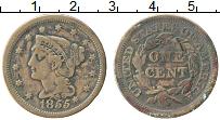 Изображение Монеты США 1 цент 1855 Медь XF