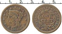 Изображение Монеты США 1 цент 1856 Медь XF
