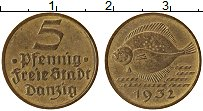 Продать Монеты Данциг 5 пфеннигов 1932 Медь