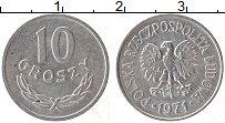 Изображение Монеты Польша 10 грош 1971 Алюминий UNC-