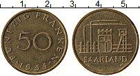 Изображение Монеты Саар 50 франков 1954 Латунь XF