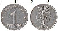 Изображение Монеты ГДР 1 пфенниг 1949 Алюминий XF