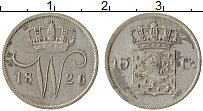 Изображение Монеты Нидерланды 10 центов 1826 Серебро XF