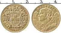 Изображение Монеты Швейцария 20 франков 1901 Золото XF+