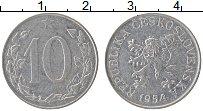 Изображение Монеты Чехословакия 10 хеллеров 1954 Алюминий XF