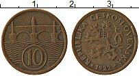 Изображение Монеты Чехословакия 10 хеллеров 1922 Бронза XF