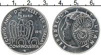 Изображение Монеты Италия 5 евро 2010 Серебро UNC 100 лет основания Ит