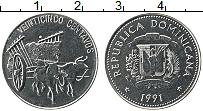 Продать Монеты Доминиканская республика 25 сентаво 1989 Сталь покрытая никелем