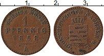 Продать Монеты Саксен-Веймар-Эйзенах 1 пфенниг 1858 Медь