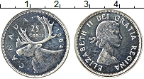 Изображение Монеты Канада 25 центов 1964 Серебро Proof Елизавета II
