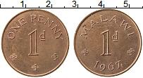 Изображение Монеты Малави 1 пенни 1967 Бронза UNC-