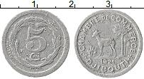 Продать Монеты Джибути 5 сантим 1921 Алюминий