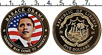 Изображение Мелочь Либерия 5 долларов 2009 Медно-никель UNC