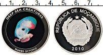 Изображение Монеты Мозамбик Жетон 2010 Посеребрение Proof Глубоководные морски