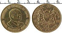 Изображение Монеты Кения 10 центов 1980 Латунь XF Даниэль Тороитич Ара