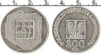 Изображение Монеты Польша 200 злотых 1974 Серебро UNC 30 лет Польской Наро