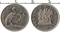 Изображение Монеты ЮАР 5 центов 1974 Медно-никель XF