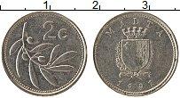 Изображение Монеты Мальта 2 цента 1991 Медно-никель XF