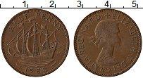 Изображение Монеты Великобритания 1/2 пенни 1958 Бронза XF Елизавета II.