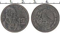 Изображение Монеты Мексика 1 песо 1986 Сталь XF Хосе Морелос