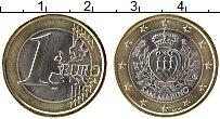 Изображение Мелочь Сан-Марино 1 евро 2015 Биметалл UNC Герб Сан-Марино