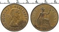 Изображение Монеты Великобритания 1 пенни 1963 Бронза XF Елизавета II
