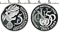 Изображение Монеты Франция 5 франков 1995 Серебро Proof