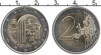 Изображение Мелочь Словакия 2 евро 2018 Биметалл UNC- 25 лет Словацкой Рес
