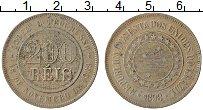 Изображение Монеты Бразилия 200 рейс 1898 Медно-никель XF