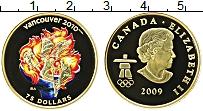 Изображение Монеты Канада 75 долларов 2009 Золото Proof Цифровая печать. Ели