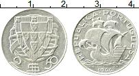 Изображение Монеты Португалия 2 1/2 эскудо 1944 Серебро XF