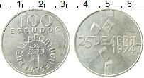 Изображение Монеты Португалия 100 эскудо 1974 Серебро UNC- Революция 25 апреля