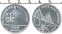 Изображение Монеты Португалия 500 эскудо 1998 Серебро UNC- Открытие моста Васко