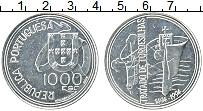 Изображение Монеты Португалия 1000 эскудо 1994 Серебро UNC 500 лет Тордесильясс