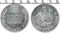 Изображение Монеты Португалия 1000 эскудо 2000 Серебро UNC Полководец Жуан де К