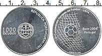 Изображение Монеты Португалия 1000 эскудо 2001 Серебро UNC Чемпионат Европы по