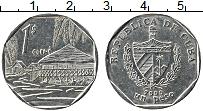 Изображение Монеты Куба 1 песо 2000 Сталь XF+ Гуама