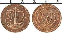 Изображение Монеты Кипр 5 милс 1978 Бронза UNC-
