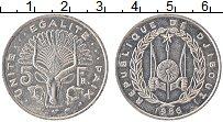 Изображение Монеты Джибути 5 франков 1986 Алюминий UNC-