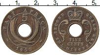 Изображение Монеты Восточная Африка 5 центов 1955 Бронза XF Елизавета II.